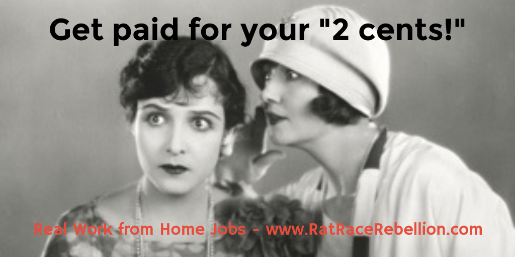 Work from Home Paid Surveys and Focus Groups
