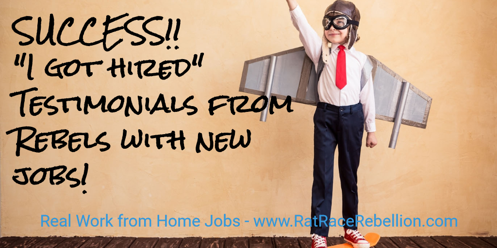 """Success! """"I got hired"""" testimonials from Rebels with new jobs!"""