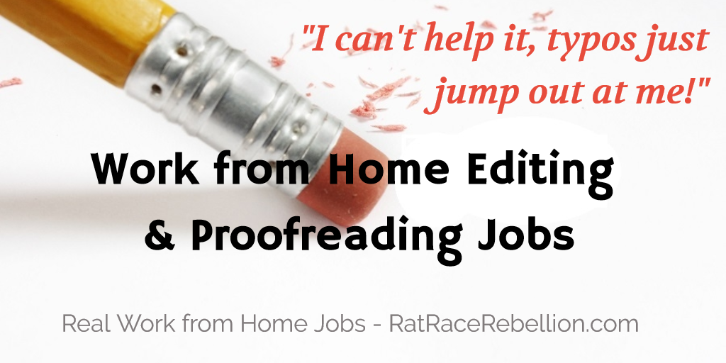 Work from Home Editing and Proofreading jobs