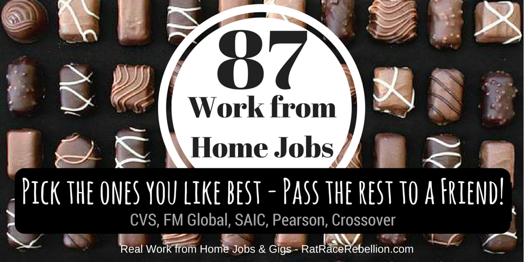 87 Work from Home Jobs – OPEN NOW with SAIC, CVS, Pearson, FM Global, Crossover