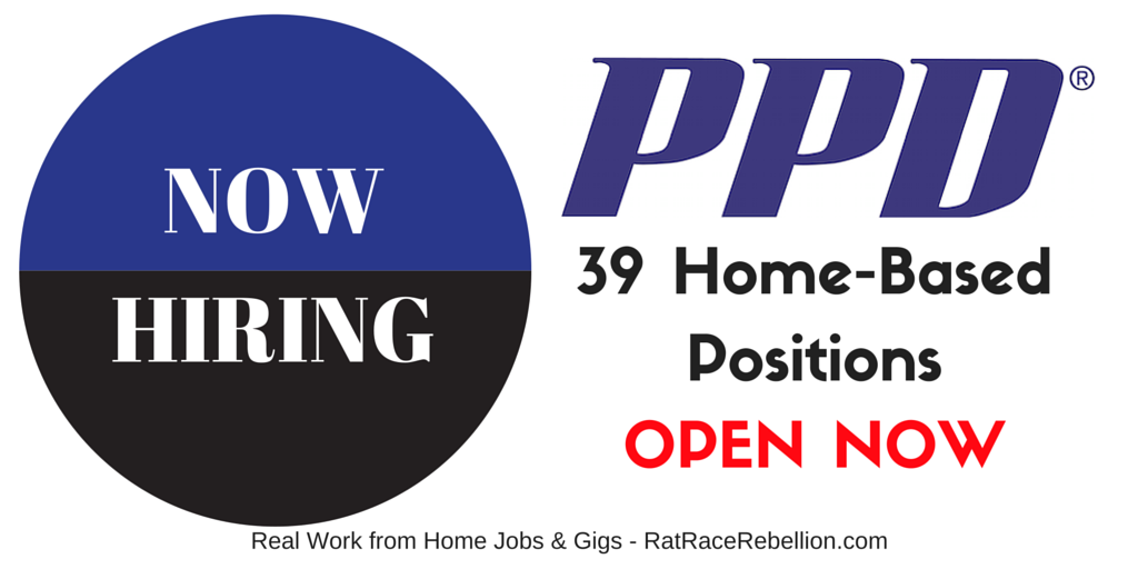 39 Home-Based Positions OPEN NOW with PPD - RatRaceRebellion
