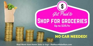Get paid to grocery shop