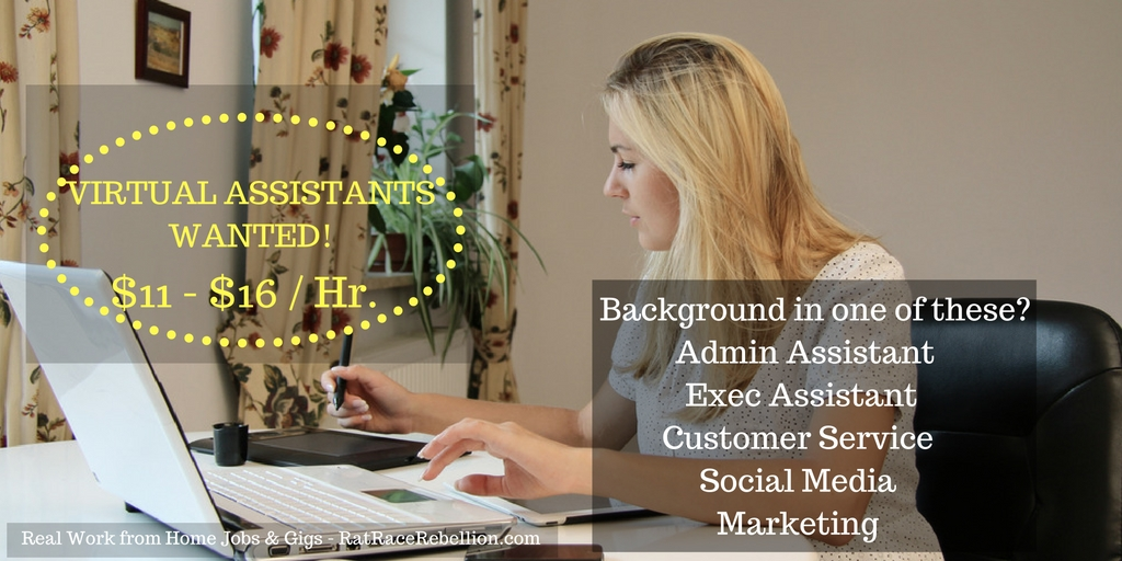 Work From Home Assistant - Work From Home Virtual Assistant Jobs, Employment
