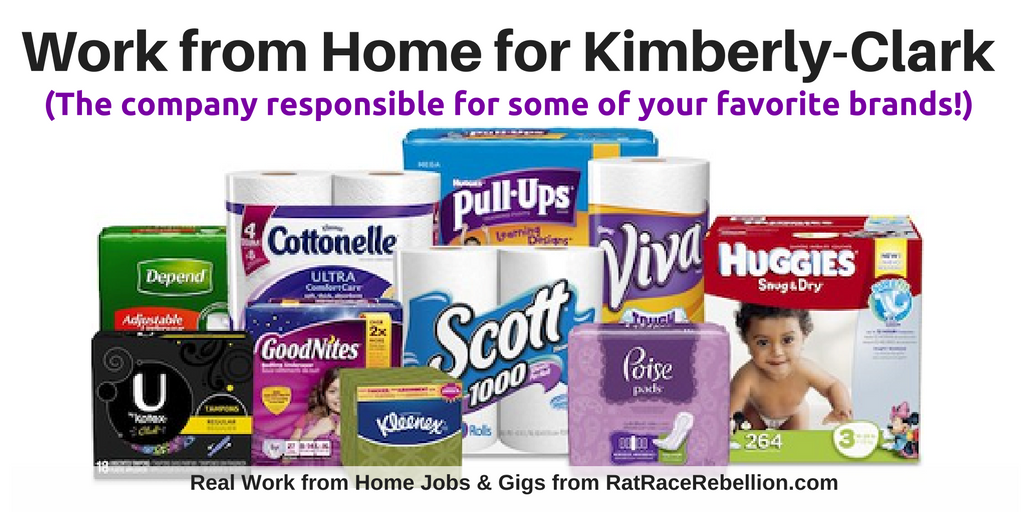 Work from Home for the Makers of Huggies & Kleenex