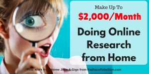 Make $2,000/Month Doing Online Research from Home