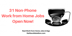 31 Non-Phone Work from Home Jobs Open Now