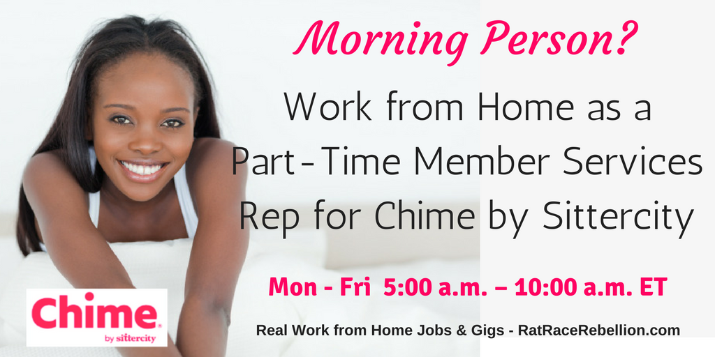 Morning Person? Work from Home as a Part-Time Member Services Rep for Sittercity