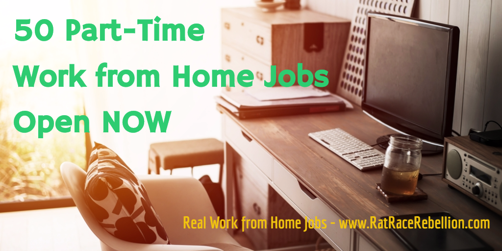 50 Part-Time Work from Home Jobs Open NOW - Work From Home