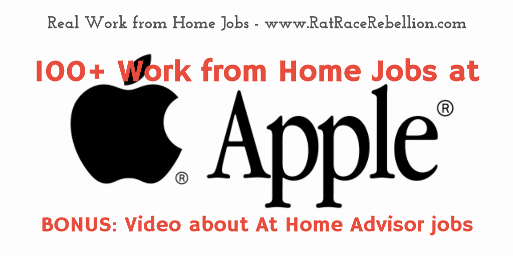 Apple work from home jobs