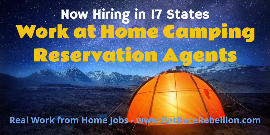 Work at Home Camping Reservation Agents - Hiring in 17 States