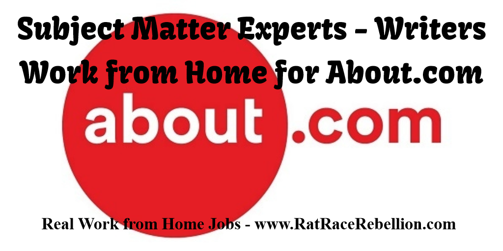 Work from Home for About.com