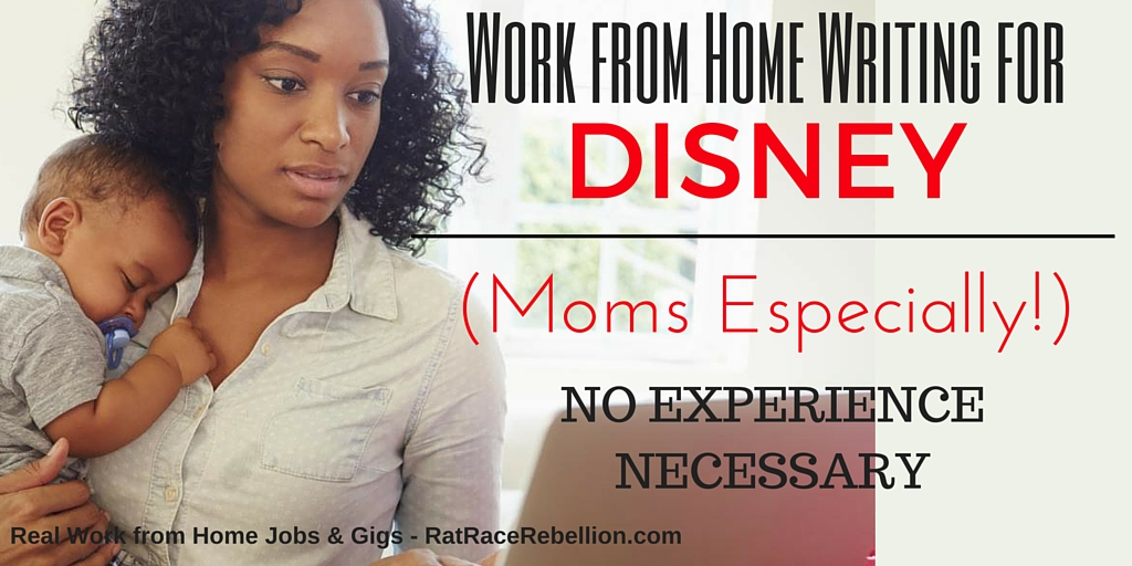 Work from Home Writing for Disney