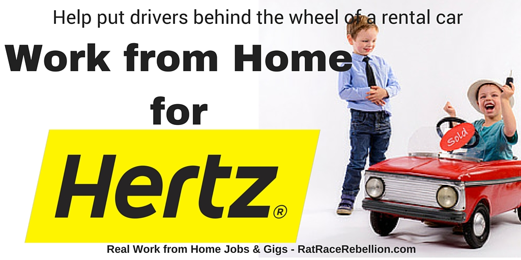 Work from Home for Hertz Rent a Car - RatRaceRebellion.com