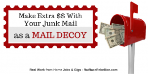 Make Extra Money with Your Junk Mail as a Mail Decoy