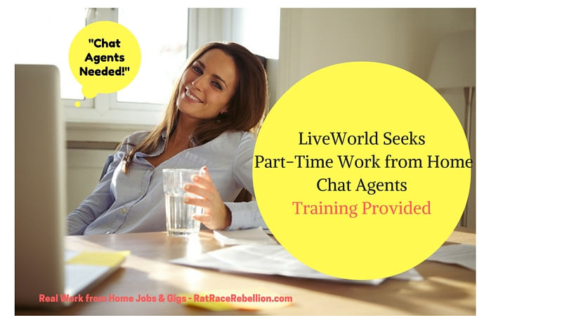 part time work from home jobs nyc part time work from home chat agents needed at liveworld 5849