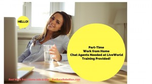 Part-Time Work from Home Chat Agents Needed