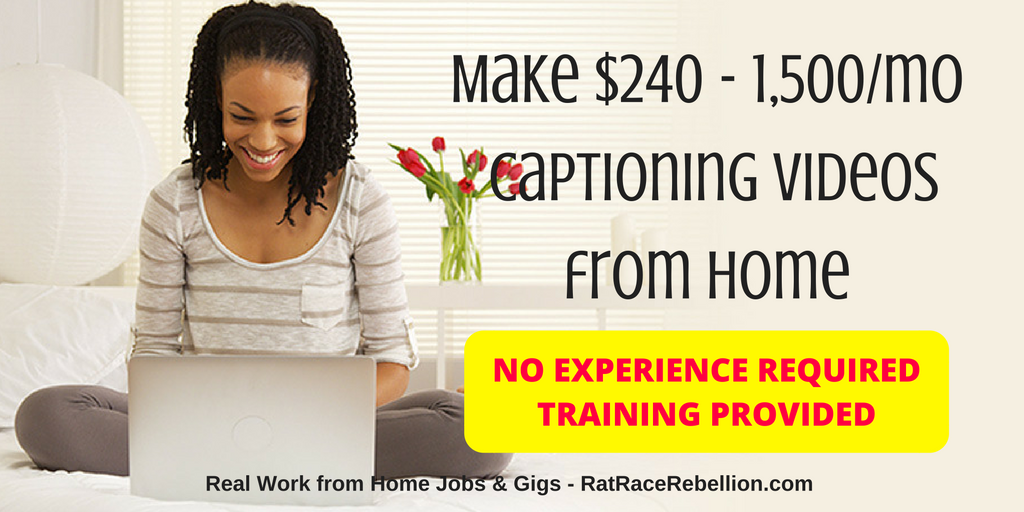 Make $240 - $1,500 a Month Captioning Videos from Home