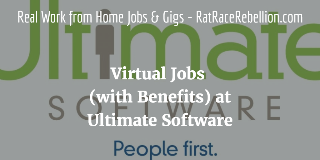 Virtual Jobs (with Benefits) at Ultimate Software Open Now