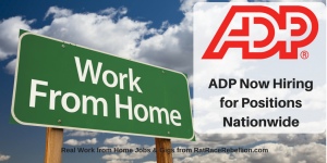 ADP Now Hiring for Many Work from Home Positions