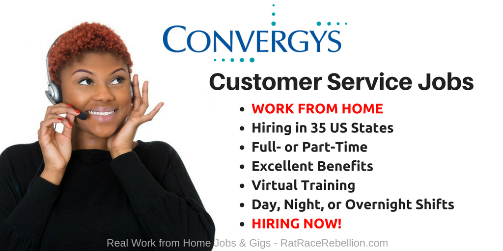 Convergys - Hiring in 35 States, Excellent Benefits!
