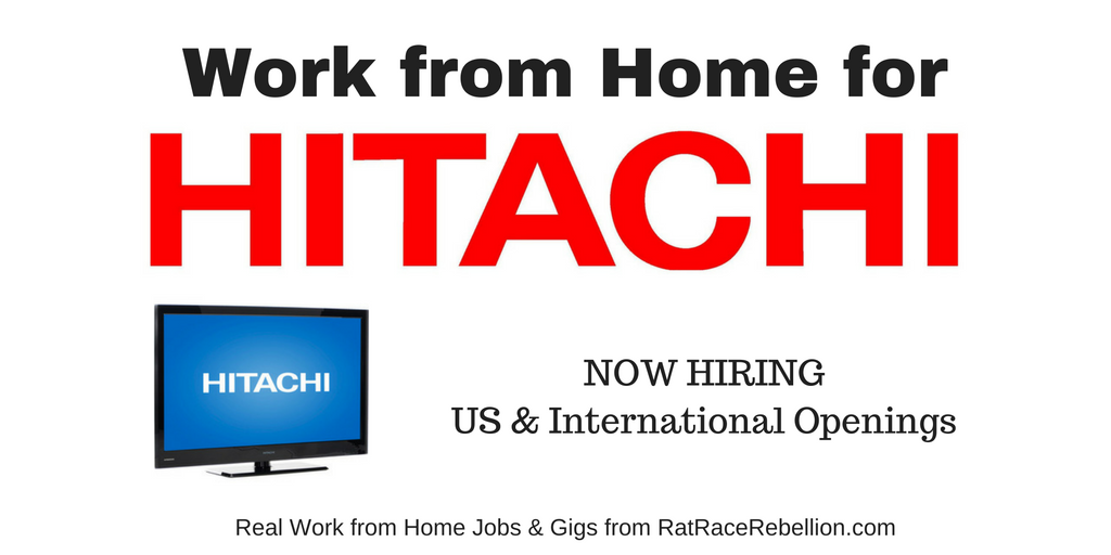Work from Home for Hitachi