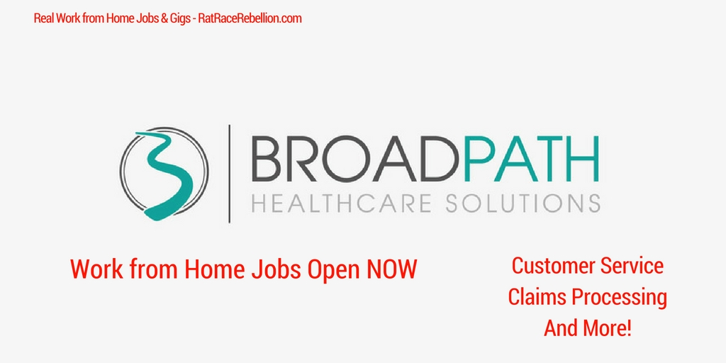 Work From Home Jobs At BroadPath Healthcare Solutions Open NOW