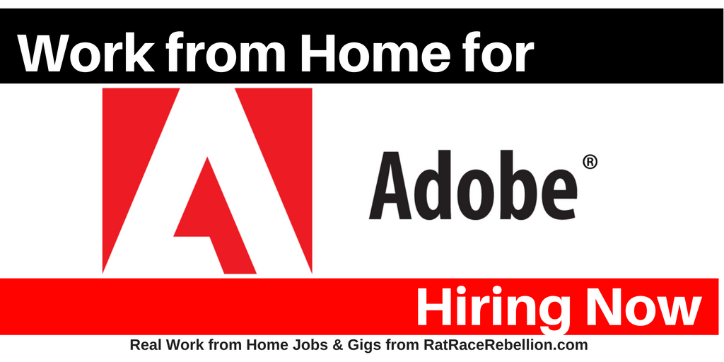 Home-Based Jobs at Adobe - Open Now - Real Work From Home Jobs by ...