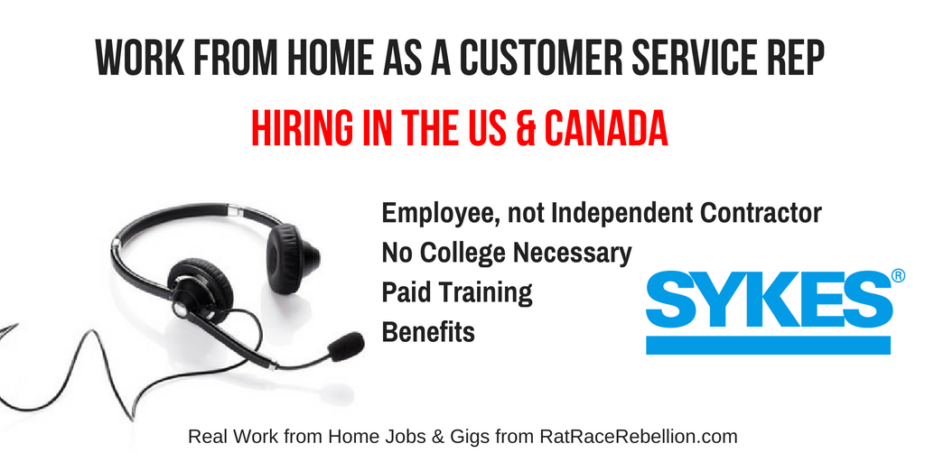 Work from Home as a Customer Service Rep for Sykes - US & Canada