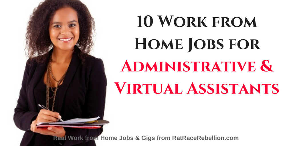 10 Work from Home Jobs for Administrative & Virtual Assistants