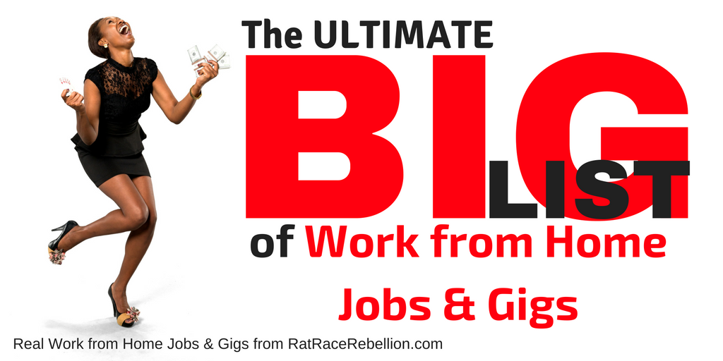 Big List of Work from Home Jobs