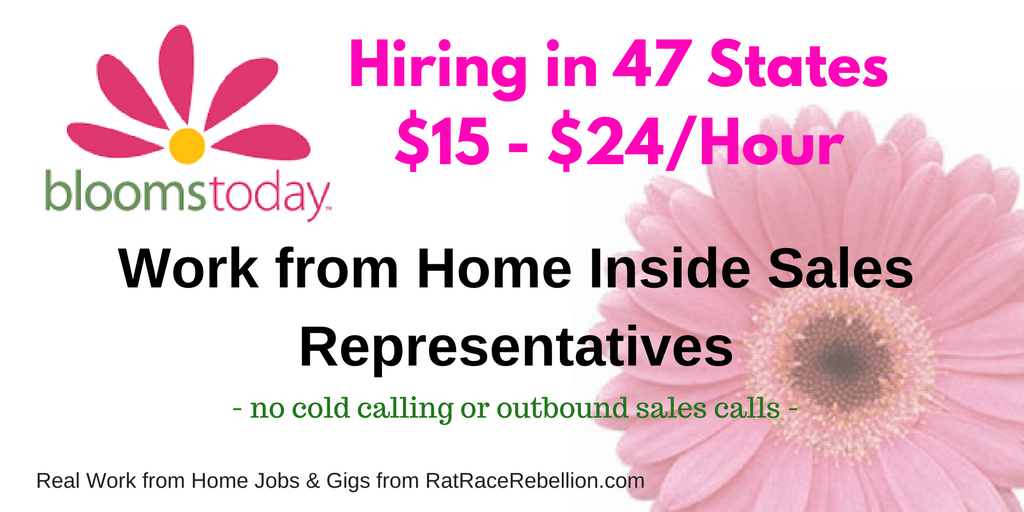 Blooms Today Now Hiring in 47 States - $15 - $24/hour - APPLY TODAY!