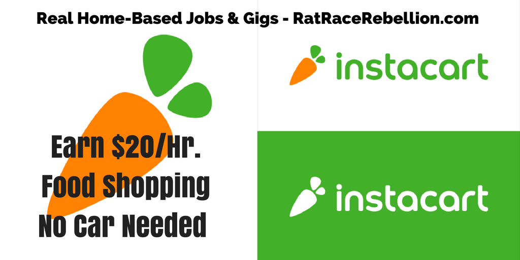 Earn $20/Hr  Shopping for Groceries - Work From Home Jobs by Rat