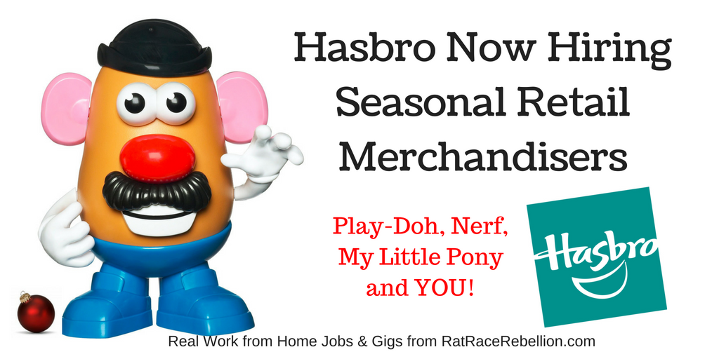 Hasbro Now Hiring for Seasonal Retail Merchandisers