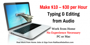Up to $30/Hour Typing & Editing from Audio - No Experience Needed