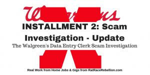 Telecommuting Data Entry Clerk Position with Walgreens(3)