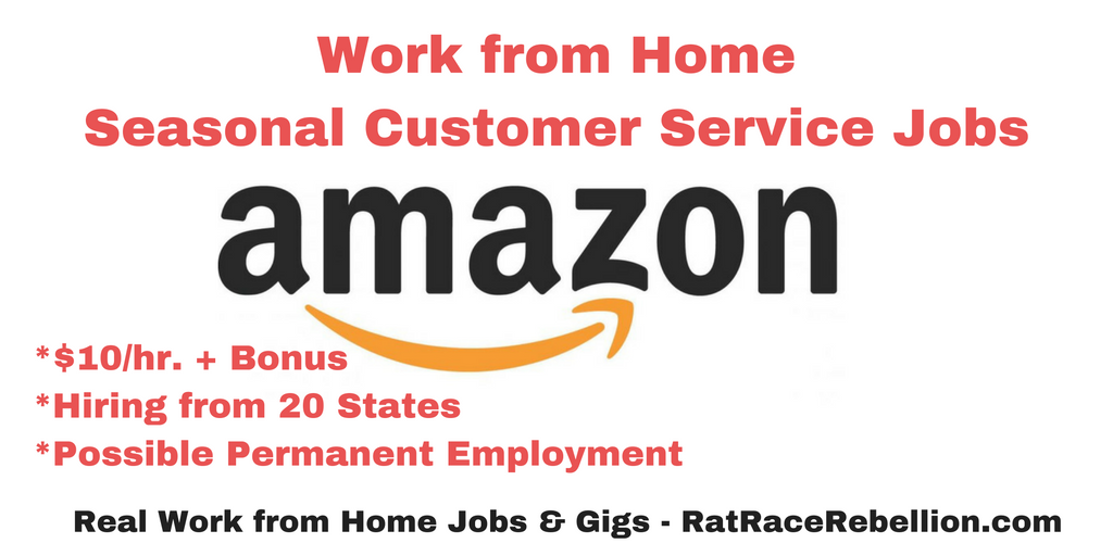 amazon jobs customer service work from home work from home at amazon seasonal customer service 1372