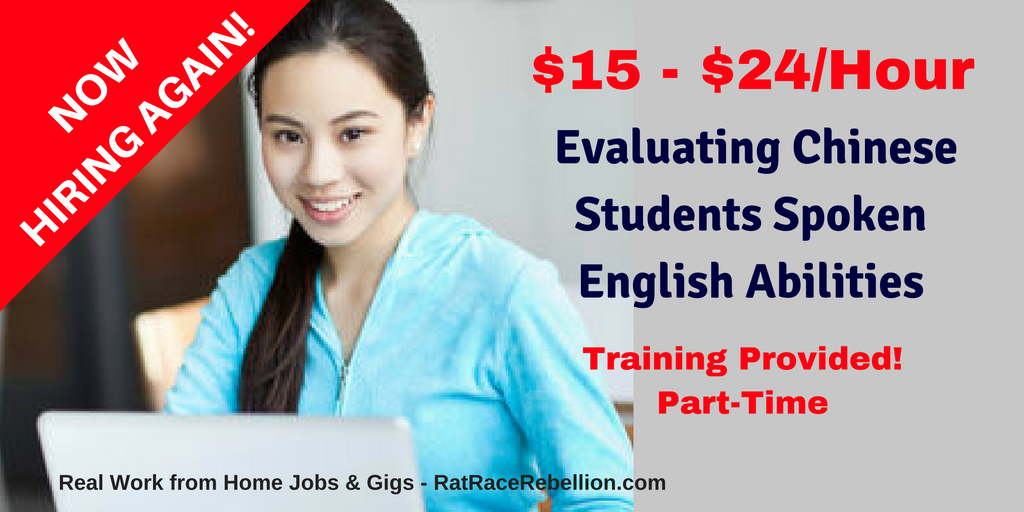 $15 – $24/Hour Evaluating Chinese Students' Spoken English Abilities