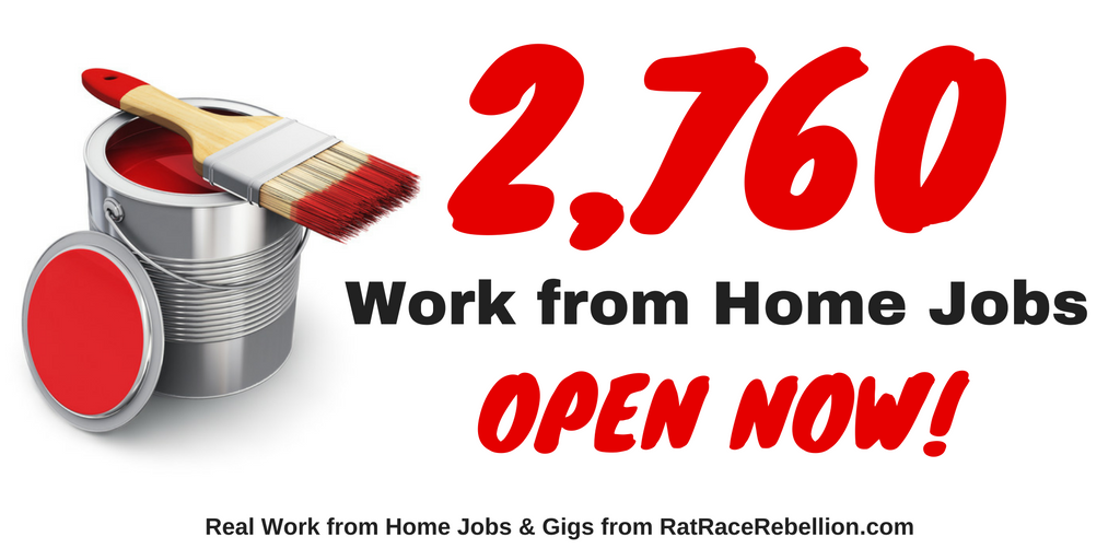 2 760 legitimate work from home jobs open now real work from