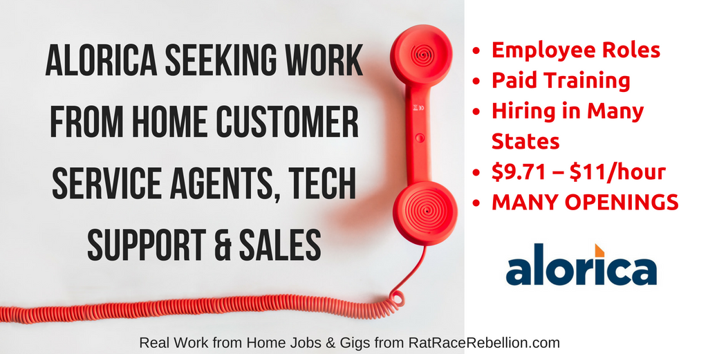 Alorica Seeking Work from Home Customer Service Agents, Tech Support & Sales