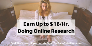 Earn Up to $16%2FHr. Doing Online Research