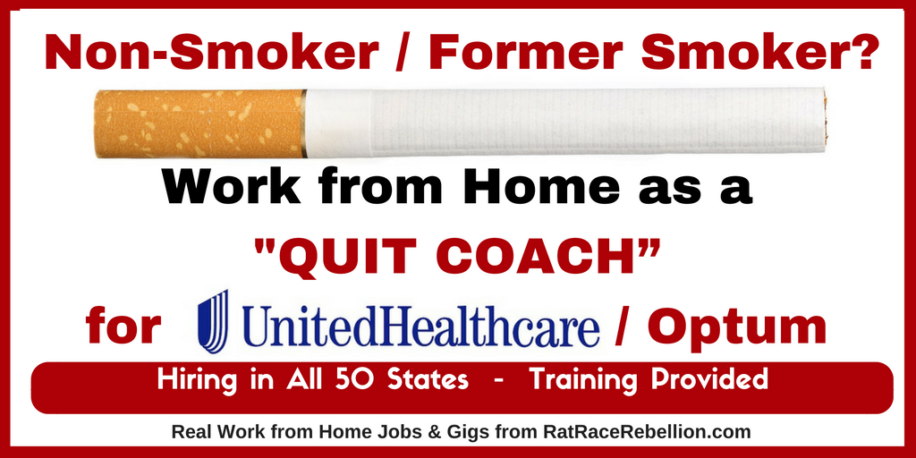 Non Smoker Former Smoker Work From Home As A Quit Coach For