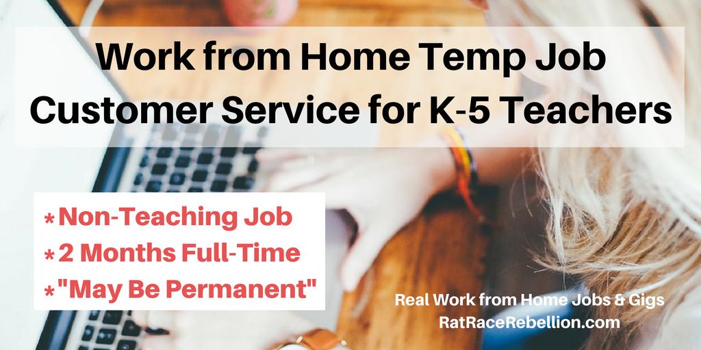 Work from Home Temp Job - Customer Service for K-5 Teachers - Real ...