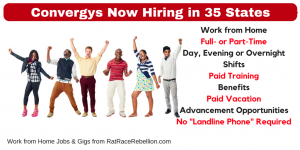 Convergys - Work from Home with Day, Evening or Overnight Shifts + Benefits