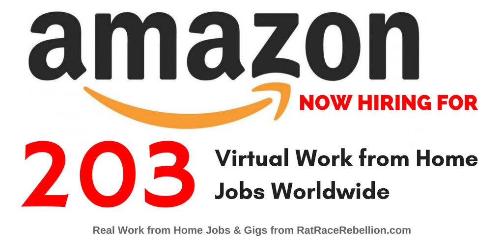 "Amazon Hiring Right Now for 203 ""Virtual"" Jobs - Worldwide"