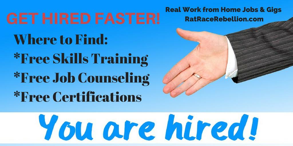 Shorten The Job Hunt Get Free Training Certifications Work From