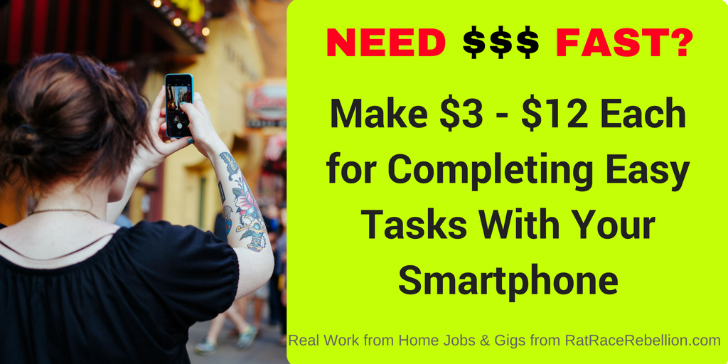 Make $3 - $12 Each for Completing Easy Tasks With Your Smartphone