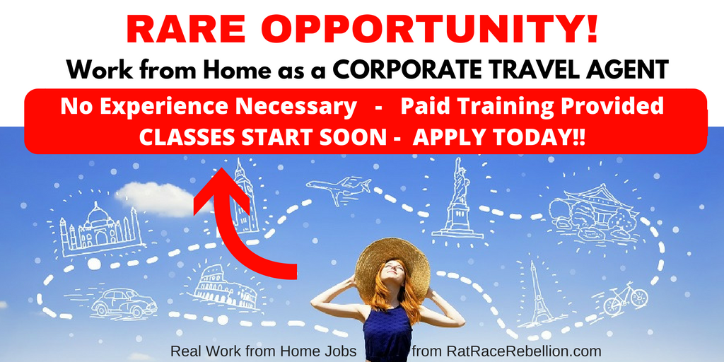 Work from Home as a Travel Agent - PAID TRAINING PROVIDED, No Experience Necessary!