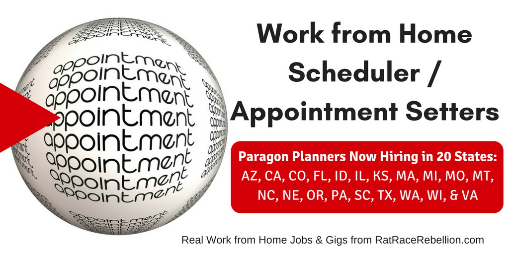 work from home scheduler appointment setter 12hour hiring in 20 states - Appointment Setter Resume