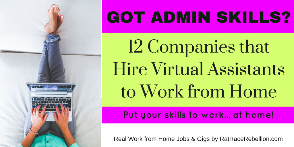 12 companies that hire virtual assistants to work from home