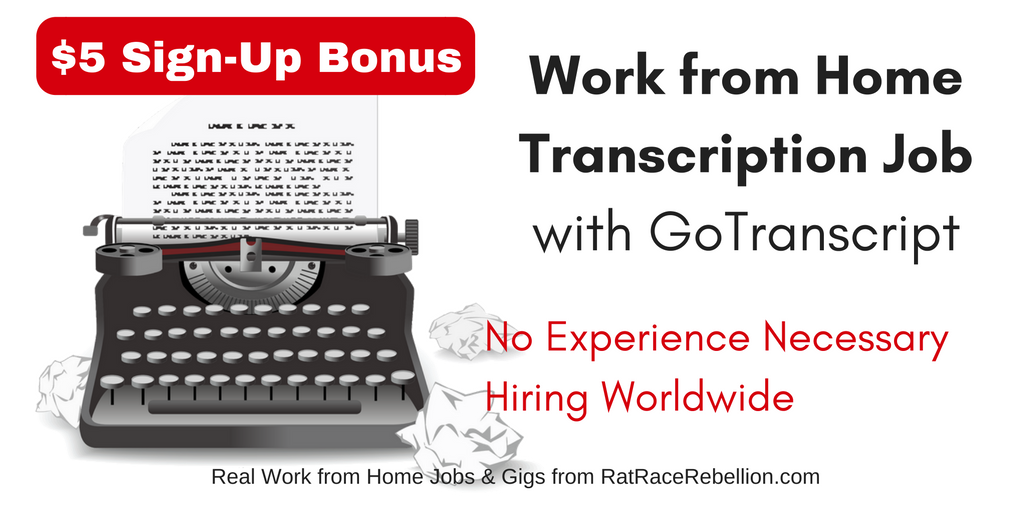 No Experience Necessary Transcription Job Hiring Worldwide - GoTranscript